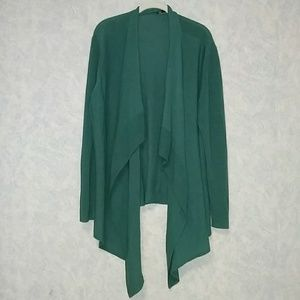 Eileen Fisher mixed knit open front cardigan 2X